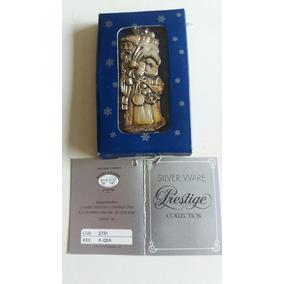 Enfeite Natalino Luxo Banhado Em Prata Kit Com 6