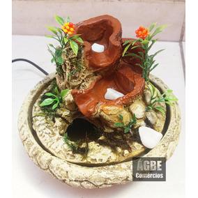 Fonte De Água Artesanal Baldinho Decoração+bombinha Led
