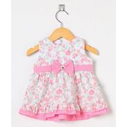 Vestido Para Bebê Menina Floral Rosa