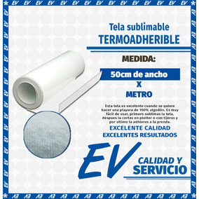 Vinil Textil (- Tela Termoadherible -) Sublimable (1mt)