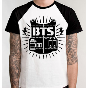 Camiseta Raglan Bts Kpop Blusa Camisa Frete Grátis Promoção