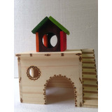 Toca Com Casa Para Hamster E Pequenos Roedores