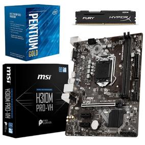 Kit 8ª Pentium G5400 + Mb H310m Pro-vh + 4gb Hyperx C/nf