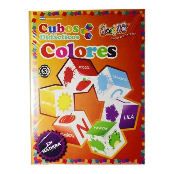 Cubos Didacticos Los Colores En Madera Gordillo