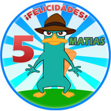 Invitaciones Perry El Ornitorrinco Kit Imprimible Imágenes