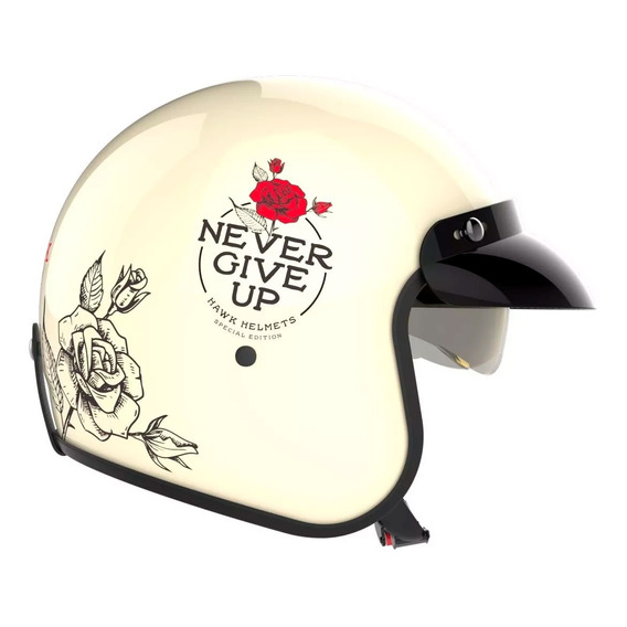 Casco Hawk 721 Abierto Vintage Never Give Up - Sti Cuotas