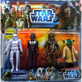 Kit Cartela Bonecos Star Wars 4 Personagens Frete Gratis