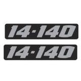 Par Emblema Resinado 14-140 Caminhão Lateral Volkswagen