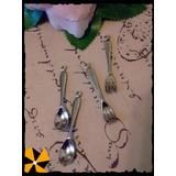 10 Dijes Cucharitas Mini Cucharas Tenedores Decoración