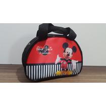 Bolsinha Personalizada Meia Lua Mickey E A Minnie
