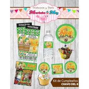 Invitacion Cumpleaños El Chavo Del 8 Kit Imprimelo Tú!!