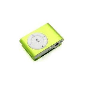 Mp3 Player Shuffle Clip Fm + Cabo Usb + Fone Suporta Até 8gb