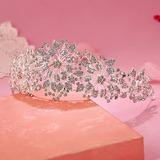 Coroa Tiara Porta Coque Noiva Strass Casamento Arranjo Flor