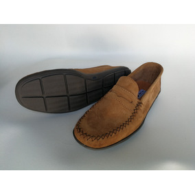 Zapatos Mocasines Cuero Gamuza
