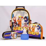 Kit Mochila Rodinhas Naruto Oferta