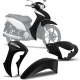 Kit Roupa Carenagem Moto Honda Biz 125 Preta Frente Completa