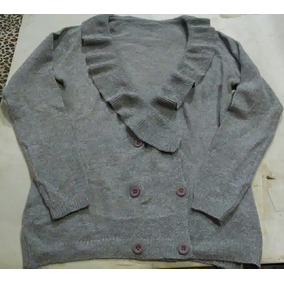 Sweater Botones Mujer - Ropa y Accesorios Plateado en Mercado Libre ... 82a7cc4916a0