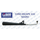 Caño Escape 110 Negro Motomel Guerrero Honda Ghiggeri