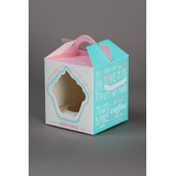 Caja Cupcake Individual Cartulina (pack X20) Hermosas