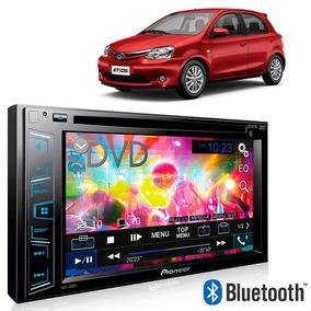 Dvd Player Pioneer Carro Hilux 6,2pol Câmera Ré Sensor Preto