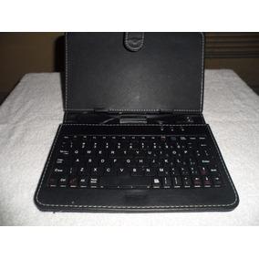 Estuche Negro Forro Con Teclado Para Tablet De 7
