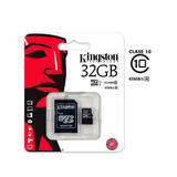 Tarjeta Micro Sd 32gb Kingston Clase 10