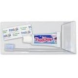 Kit C/10 Viagem Freedent Escova Creme Dental Mini,fio 40 Cm