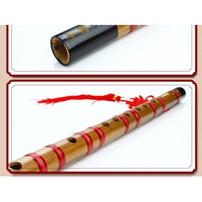 Flauta Chinesa De Bambu Dizi Reta Afinação Fa (key F) + Kit
