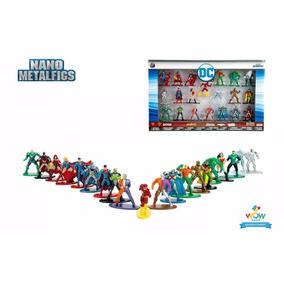 Liga Da Justiça 20 Figuras Metalfigs Colecionar Metals 4cm