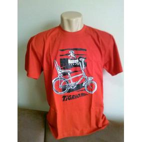 Camiseta Bicicleta Monark Tigrão Vermelha