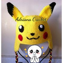 Gorro Crochet Pokémon Personajes Bebés Env Gratis