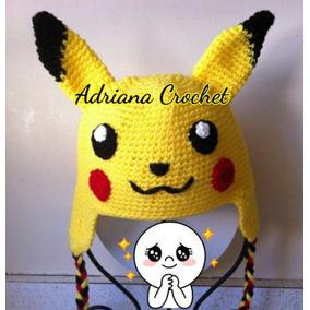 Gorro Crochet Pokémon Personajes Bebés, Niños Y Adultos