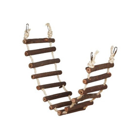 preveer hendryx naturals escalera de cuerda pjaro juguete