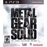 Metal Gear Solid The Legacy Collection Ps3 Original