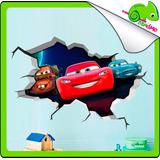 Vinilos Osandme Crack Grieta Pared Niños Infantil Peppa Cars