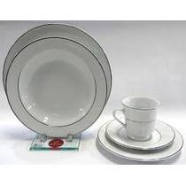 Jogo Jantar E Chá 30 Peças Renda Branca Porcelana Schmidt