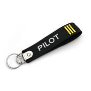 Llavero Doble Pilot Barras Amarillas
