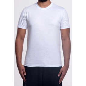 Camiseta Branca Básica Lisa - 100% Poliéster - Sublimação