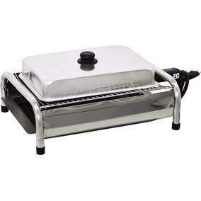 Churrasqueira Elétrica Bafo Grill Inox 110v Prata 3 Brindes*
