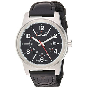 Wenger Mens Field Gear Swiss Quartz Stainless Steel And Nylo