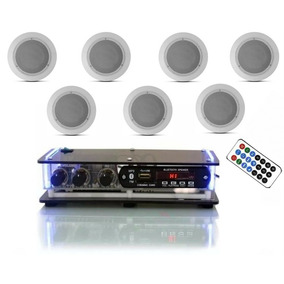 Amplificador Bluetooth Orion+7 Caixas Redondas Brancas