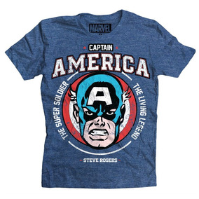 Playera The Living Legend Capitan America B Mascara De Latex