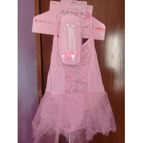 Vestido Tipo Princesa- Bailarina Con Zapatillas Talla 3-4