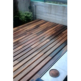 Deck Madera Guayubira Colocado - Premium