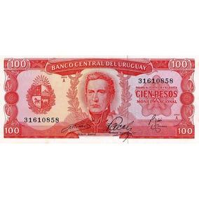 Grr-billete De Uruguay 100 Pesos 1967
