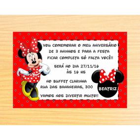 10 Convites Personalizados Minnie