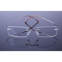 Armação Óculos Titanio Três Peças Discreta Sem Aro Bf