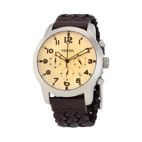 Relógio Masculino Fossil Grant Fs5178/0xn Pulseira De Couro