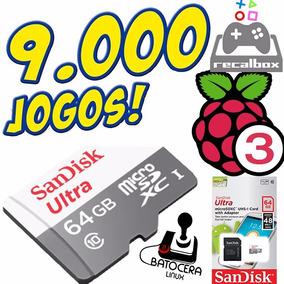 Cartão Raspberry Retrogames Jogos Retro Play Recalbox 64gb C