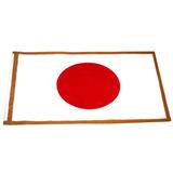 Bandera+mástil Escrit.japón Tela Estampada 15x25cm.(104156)